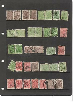 hp6 Nepal stocksheet 35 stamps mixed condition