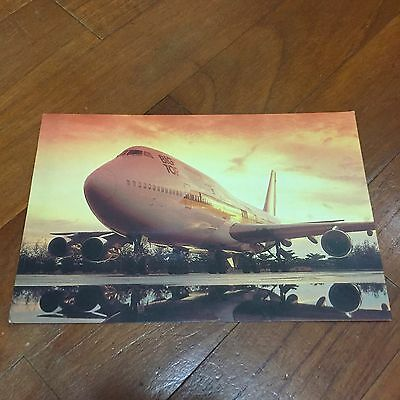 Rare Old 40 anniversary Big Top 747s Singapore Airlines Postcard Type C