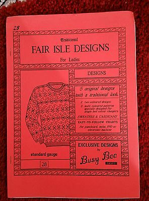Fairisles for ladies patts. please see description and photos