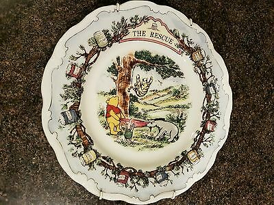 Royal Doulton Winnie The Pooh Plate *the Rescue*