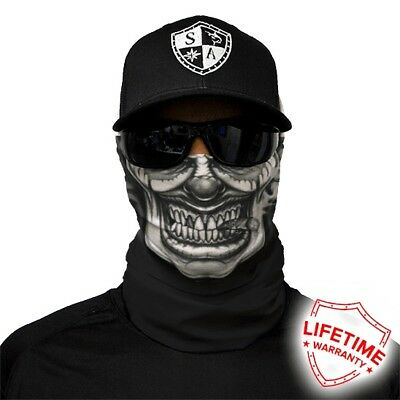 MOTORCYCLE FACE MASK - THE POKER GRIN - (Moto, Hunting, Fishing, Paintball)