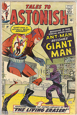 Marvel Comics TALES TO ASTONISH 49 ANT MAN GIANT MAN AVENGERS VG