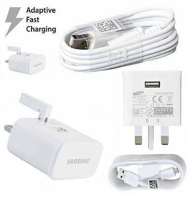 Samsung Galaxy S6 S7 Edge Plus Genuine Adaptive Fast Charger & Cable S Note 4 5