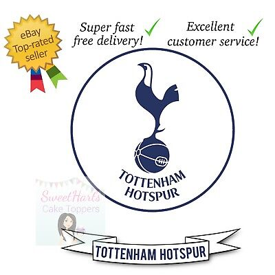 Tottenham Hotspur Spurs Cake Topper And Banner Set Edible Icing Or Pick Team!
