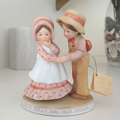 Holly Hobbie Figurine Special Love with Robbie Limited Edition w Orig Tag Rare