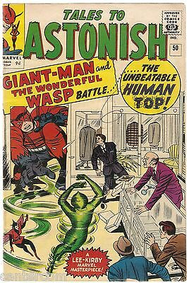 TALES TO ASTONISH #50 Hank Pym 2nd GIANT MAN AVENGERS MID GRADE FN
