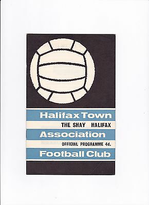 1964/65 HALIFAX TOWN v HARTLEPOOL UNITED (POSTPONED) **ONLY ONE KNOWN TO EXIST**