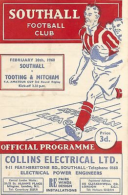 Southall v Tooting & Mitcham - Amateur Cup - 20/02/1960