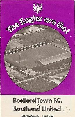 Bedford Town v Southend United - Friendly - 29/07/1972