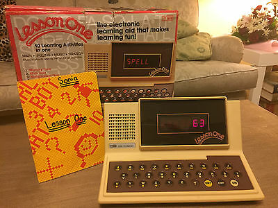 Vintage 1980 Electronic Educational V Tech Lesson One Tutor Toy Vtg Top Conditio