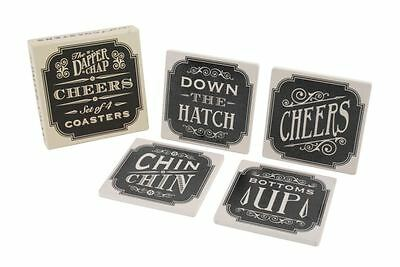 4 Assorted The Dapper Chap 'Cheers' Celebration Party Bag Filler Coaster Favours