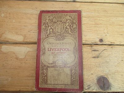 The Ordnance Survey Map of Liverpool and District on cloth - 1913