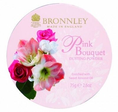 Cosmetic Pink Bouquet Dusting Powder 75g Choose Pressed Compact Gift Mum Wife