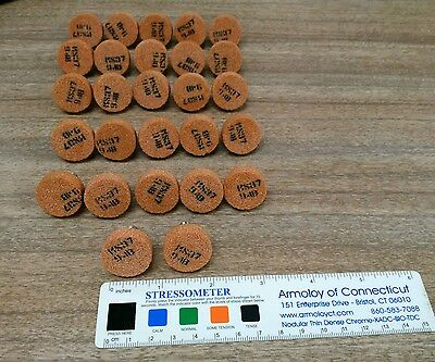 Set of  27  Mounted Grinding Stones With a 1/2'' Threaded Shank