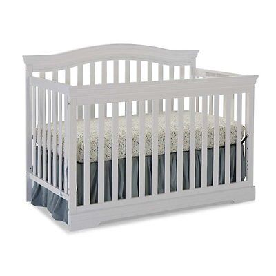 Broyhill Kids Bowen Heights 4-in-1 Convertible Crib in White