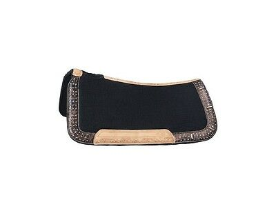 Tough-1 Saddle Pad Remington Buckle Bling Accents Wool 28 x 30 31-7745