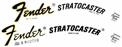Two 70s Strat  Style Waterslide Headstock Decals