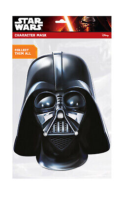 DARTH VADER OR STORMTROOPER #CARD FACE MASK FANCY DRESS BOOK WEEK ACCESSORY