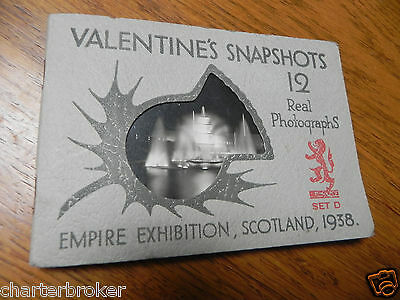 VALENTINES & SONS Scotland Empire Exhibition 12 X real photos 1938. EX CONDITION