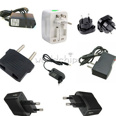 UK/EU/US Plug Power Supply Converter AC 100-240V to DC 12V 9V 5V 1A 2A LED Light