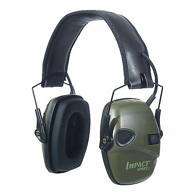 Howard Leight R-01526 Impact Sport Sound Amplification Electronic Earmuff Green