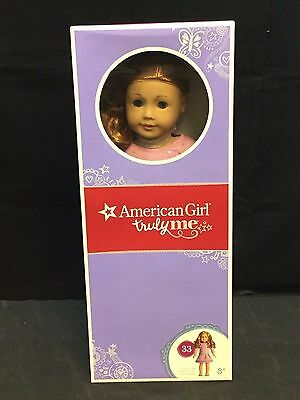 American Girl Doll Truly Me: Light Skin, Curly Light Red Hair & Blue Eyes #33