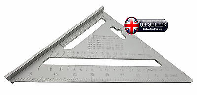 """Aluminium Roofing Speed Square Level Ruler 7"""" 177mm easy to read scale 0 to 180"""