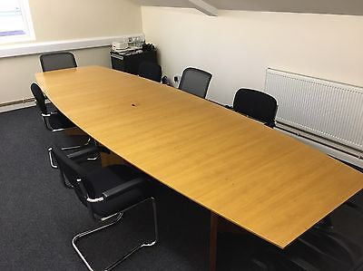 Large Boardroom Table Office 3.8 Metres X 1.2 Metres
