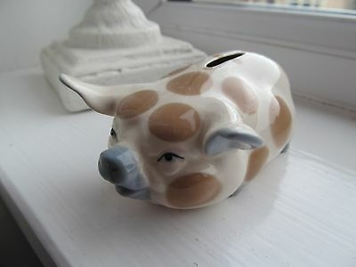 Cute Vintage Szeiler Piggy Bank Blue Nose Ears, Tail And Feet