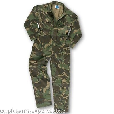 Kids Army Camouflage Overalls Age 1-13 Yrs Boys Girls Soldier Costume Coveralls