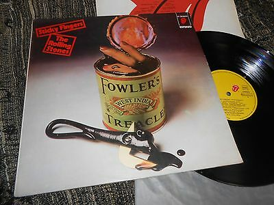 THE ROLLING STONES Sticky Fingers Dedos Pegajosos LP 1980 SPAIN RARE COVER!