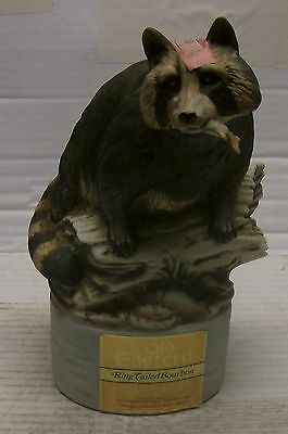 XXTREME RARE  Old Eastern RingTailed Bourbon Raccoon Decanter from 1974