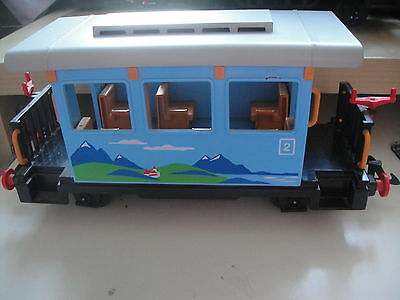 G Scale,playmobile.2Nd Class Blue Scenic , Short 4 Wheel Coach.-Used