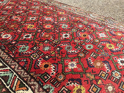 2x10 HAND KNOTTED PERSIAN IRAN HERIZ RUG RUNNER WOVEN WOOL MADE 2 x 10 ANTIQUE 3