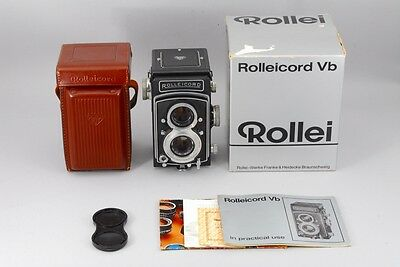 Near Mint Rollei Rolleicord Vb TLR camera, lens Xenar 75mm f/3.5 from Japan #513