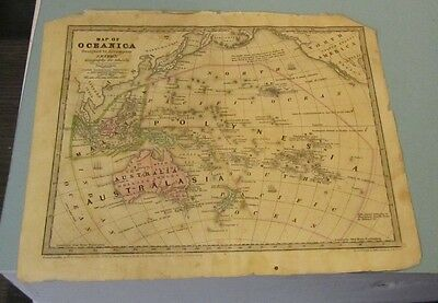 1839 Smith Geography Hand Colored Map of Oceanica Australia Malaysia Polynesia