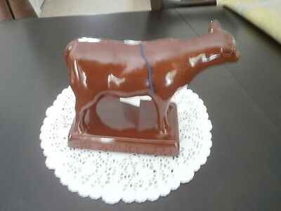 RARE brown cow by blue mountain pottery