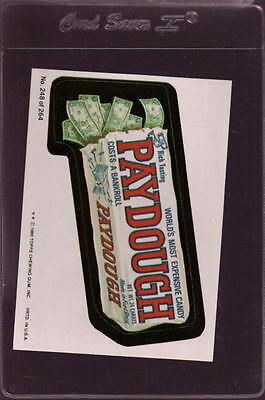 1980 Wacky Packages Stickers #248 Paydough Mint  *028951