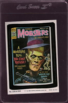 1980 Wacky Packages Stickers #226 Mobsters Mint *034937