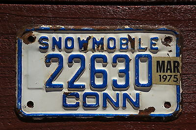 1975 Connecticut SNOWMOBILE License Plate