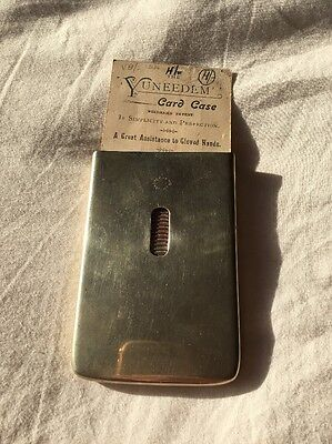 Victorian/ Edwardian Needham's Metal Card Case