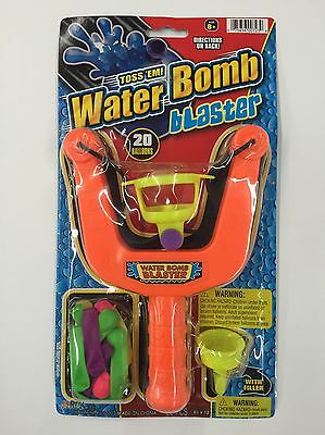 Water Bomb Blaster Slingshot With 20 Water Ballons (NEW)