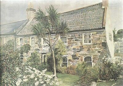 SUPER OLD POSTCARD  - 'MONAMY' - ST. JACQUES - GUERNSEY C.1979 from old painting