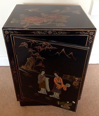 "Mid c20th Hand Painted Chinese Lacquer Gilded Wedding Cabinet ""Free Delivery"""