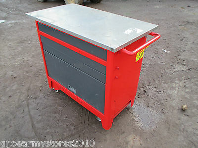 FACOM Tool Cabinet Chest Box On Wheels Work Bench Garage Mechanic Workshop MOD
