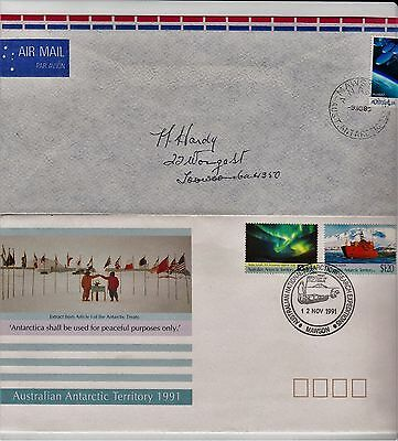 Australia Antarctic Territory 4 covers from Mawson Base from 1986-1992