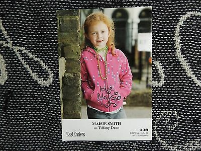 "HAND SIGNED 6"" x 4"" PHOTO CARD - EASTENDERS - MAISIE SMITH - TIFFANY DEAN"