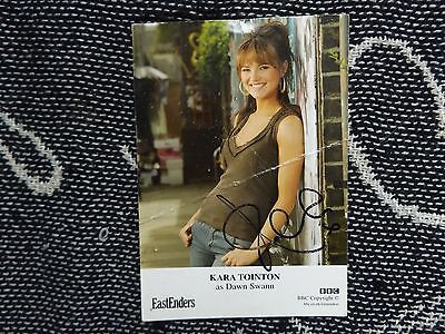 "HAND SIGNED 6"" x 4"" PHOTO CARD - EASTENDERS - KARA TOINTON - DAWN SWANN"