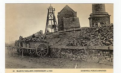 BLUE FLY COLLIERY, WEDNESBURY: Modern Staffordshire postcard (JH1771)
