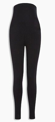 Next Black And Navy Size 8 Maternity Over The Bump Leggings